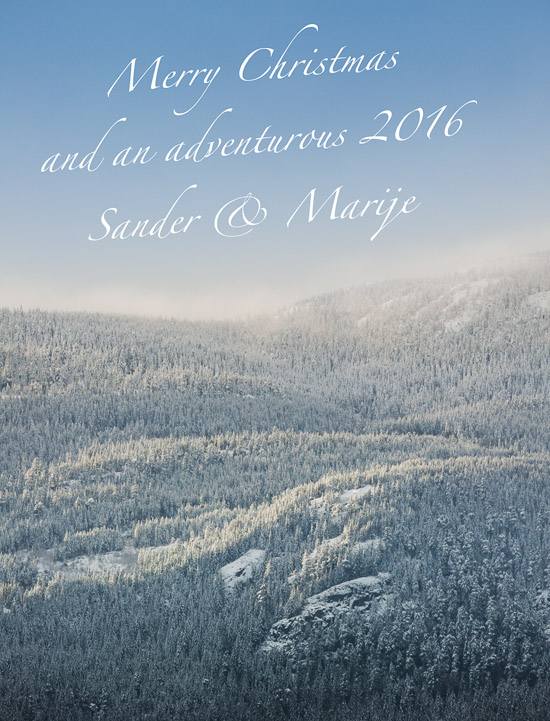 Merry Christmas and an adventurous 2016!